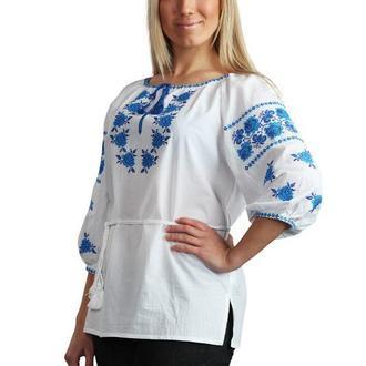 Блуза Вышиванка Женская Роза (Батист Белый)