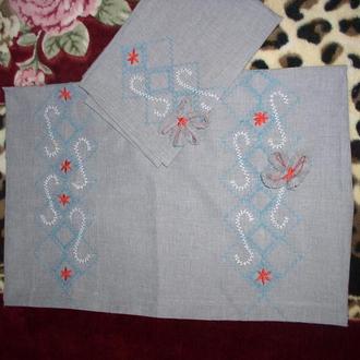 Наволочки льняные с вышивкой