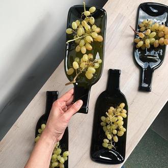Оливковое испеченная бутылка-тарелка с ручкой