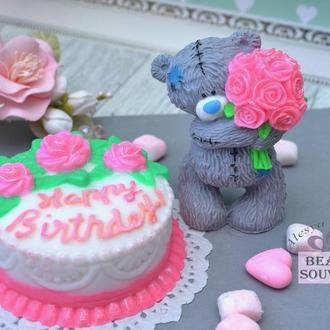 Набор мыла С Днем рождения, мишка Тедди