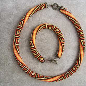 Комплект: ожерелье и браслет
