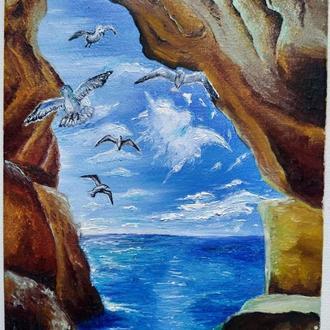 """Картина 24х18 """"Чайки над морем"""""""
