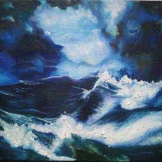 """Картина 50х60 """"Ночной шторм"""""""