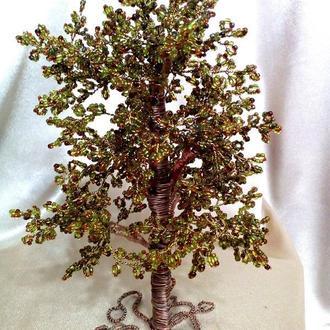 Дерево из бисера  .