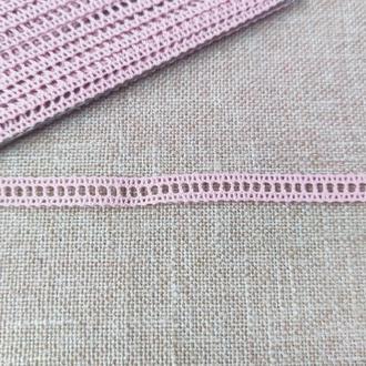 Кружево хлопок 1.2 см розовое( 1 м/п )