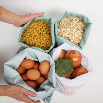 Экомешочки для фруктов киев, набір екомішечків - 4 штуки київ, мешочки для овощей