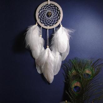 Красивый белый ловец снов на подарок. Декор на стену.