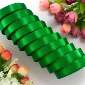 Стрічка атласна зелена 1,2 см (23 метри)