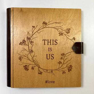 Фотоальбом с дерева | Подарок ручной работы | FILWOOD | Альбом семейный