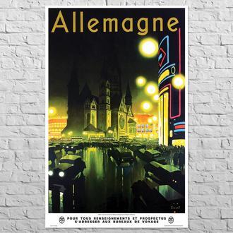 Плакат Алеманія (Німеччина), 1930