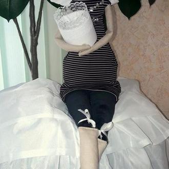Лялька в стилі тильда тримач ватних дисків