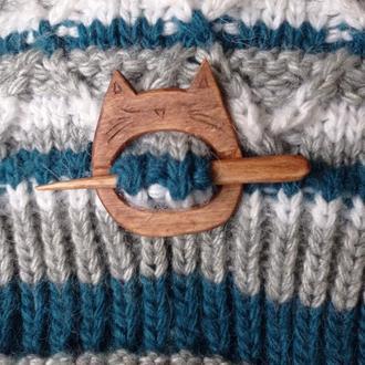Брошь- фибула кот