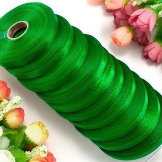 Лента атласная светло-зеленая 0,6 см (23 метра)