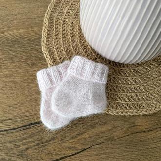 В'язані дитячі шкарпетки | Пінетки для новонароджених рожеві