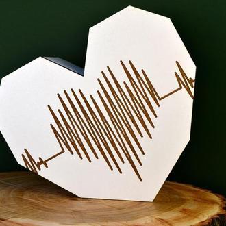 Деревянная подарочная коробка сердце, деревянная подарочная оригинальная упаковка, 14 февраля