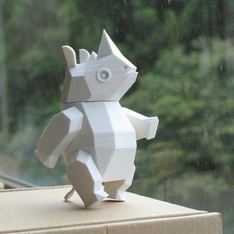 Носорог игрушка подвижная