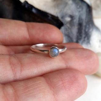 Серебряное кольцо с лабрадоритом, серебряное кольцо с натуральными камнями, подарок