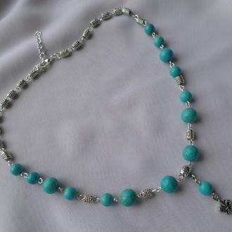 Ожерелье, бусы с бирюзой