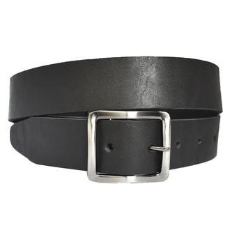 Ремень кожаный мужской черный  под джинсы Solomon14