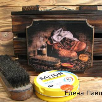 Ящик ′Не люблю нечищеную обувь′