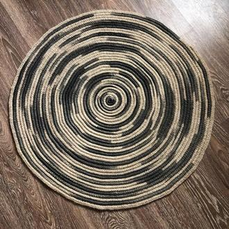 Ковер джутовый круглый