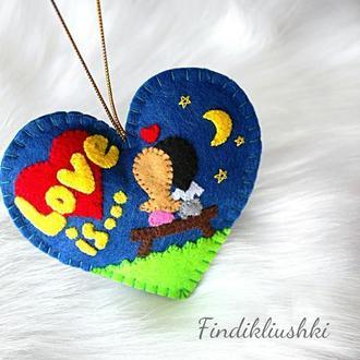 Сердечко love is... Подарок любимому человеку. Hand Made