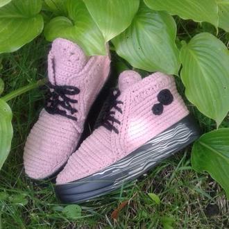 Стильные вязаные  ботиночки Наслаждение