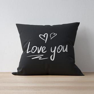 """Интерьерная подушка """"Love you"""""""