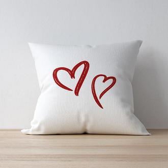 "Интерьерная подушка ""Hearts"""