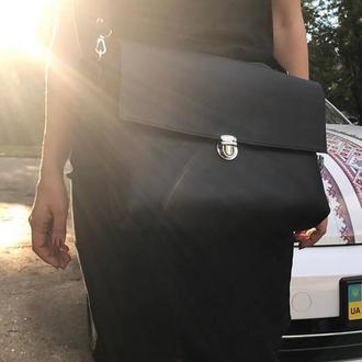 Кожаная сумка - портфель