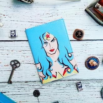 Паспортная обложка, Чудо-женщина, обложка на паспорт, обложка для паспорта