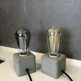 Бетонный светильник в стиле лофт