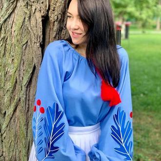 Вышитая Женская Блуза Дубочки