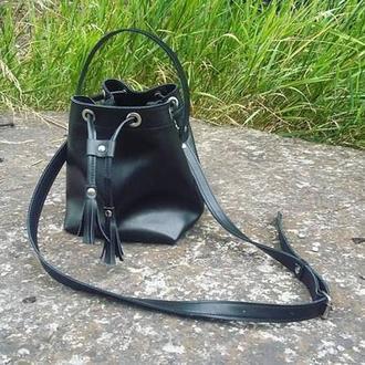 Чёрная стильная сумка  (Mini)