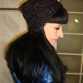 Модная шапка бини  дизайнерская - зима/демисезон 2021