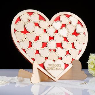 Книга побажань у формі серця Wedding, 42х40 див.