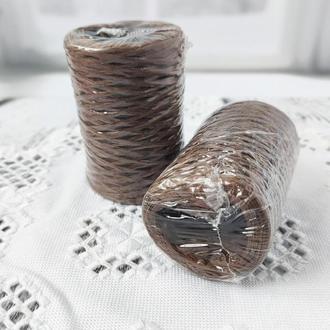 Рафия декоративная коричневая, 3 мм. 50 гр