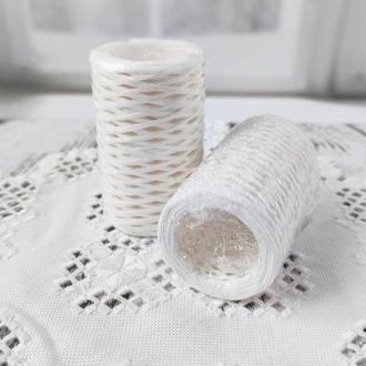 Рафия декоративная белая, 3 мм. 50 гр