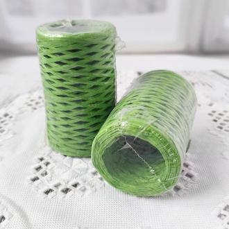 Рафия декоративная зеленая, 3 мм. 50 гр