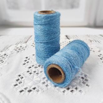 Шпагат льняной голубой 2 мм, 60 м