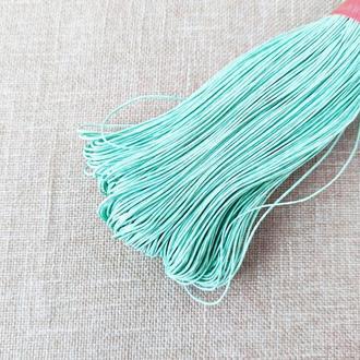 Шнур льняной вощеный мятный 1 мм, 5 м