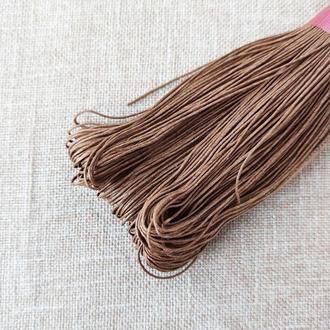 Шнур льняной вощеный каппучино 1 мм, 5 м