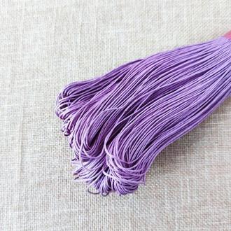 Шнур льняной вощеный сиреневый 1 мм, 5 м