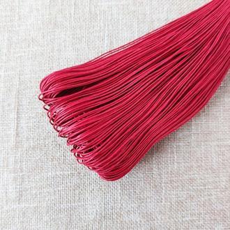 Шнур льняной вощеный красный 1 мм, 5 м