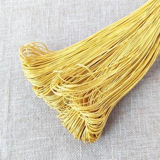 Шнур льняной вощеный желтый 1 мм, 5 м