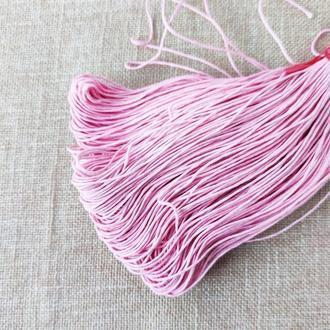 Шнур льняной вощеный розовый 1 мм, 5 м