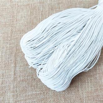 Шнур льняной вощеный белый 1 мм, 5 м