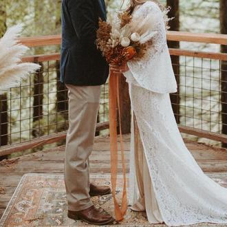 Батистовая лента для свадебного букета цвета Terracotta
