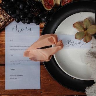 Батистовая лента цвета Cooper для свадебного декора, букета невесты, оформления пригласительных