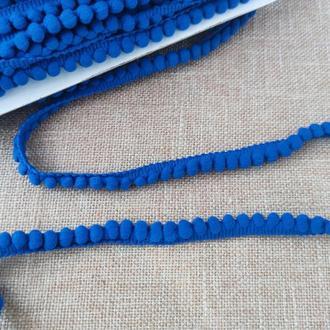 Тасьма з помпонами синя 0,5 см (1м/п)